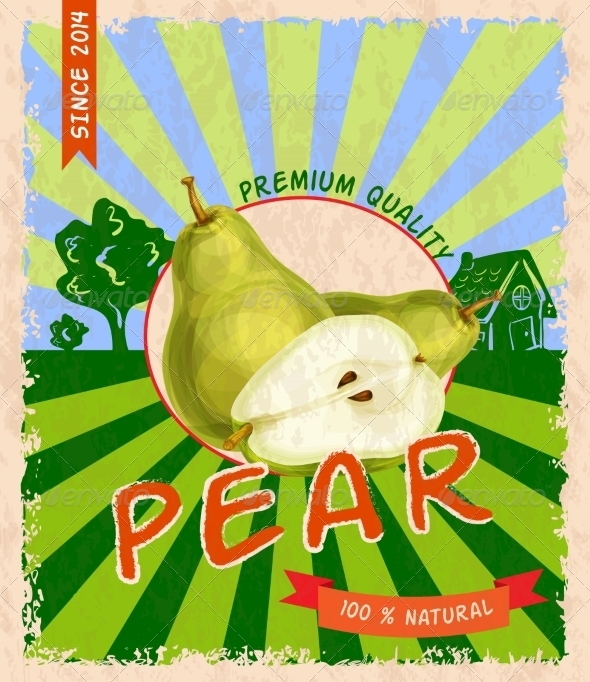 GraphicRiver Pear Retro Poster 7785415