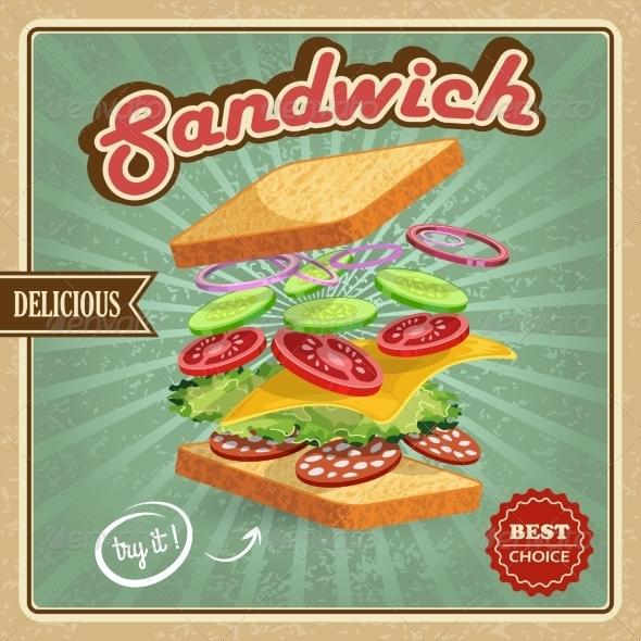 GraphicRiver Salami Sandwich Poster 7785445