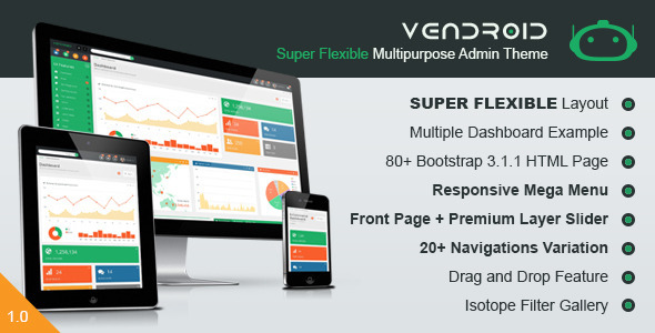ThemeForest Vendroid Super Flexible Multipurpose Admin Theme 7717536