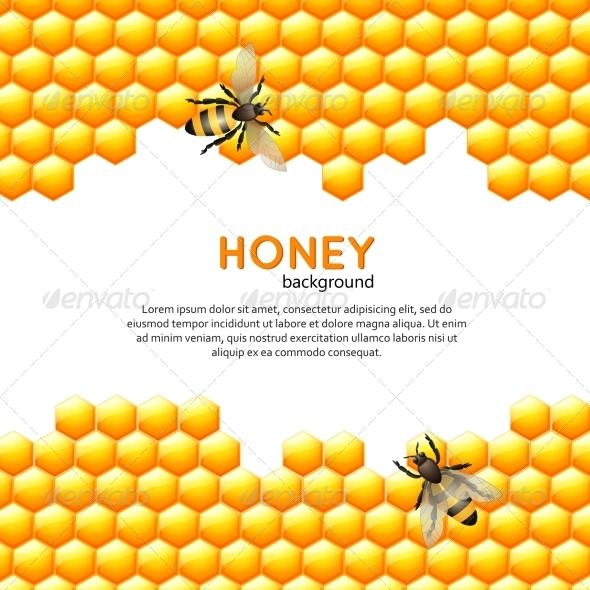 GraphicRiver Honey Bee Background 7785526