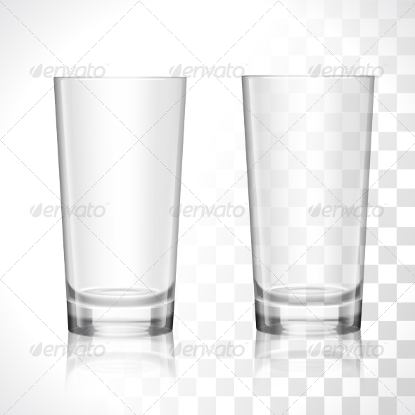 GraphicRiver Empty Glasses Set 7785604
