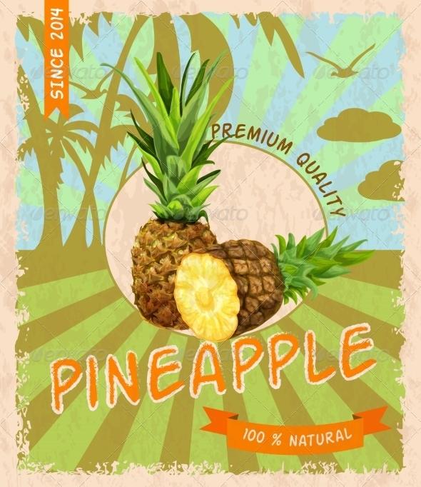 GraphicRiver Pineapple Retro Poster 7785608