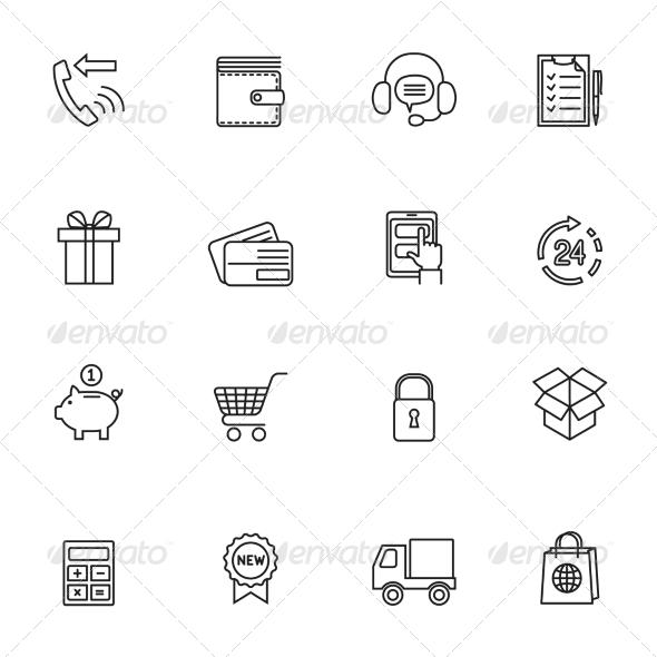 GraphicRiver Shopping E-Commerce Icon 7785618