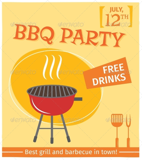 GraphicRiver Bbq Grill Poster 7785641