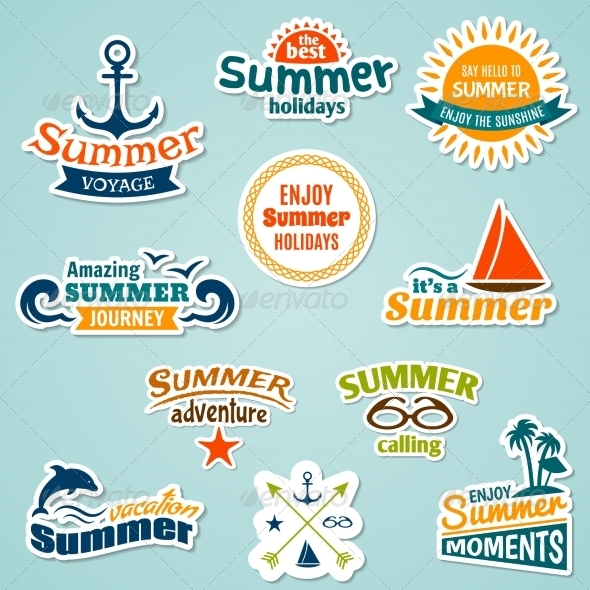 GraphicRiver Summer Element Sticker 7785650