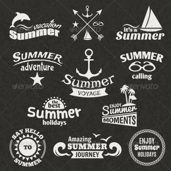 GraphicRiver Summer Element Label 7785658
