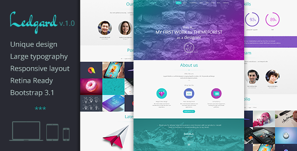 Ledgard - Clean Responsive Landing Page + Blog - Site Templates