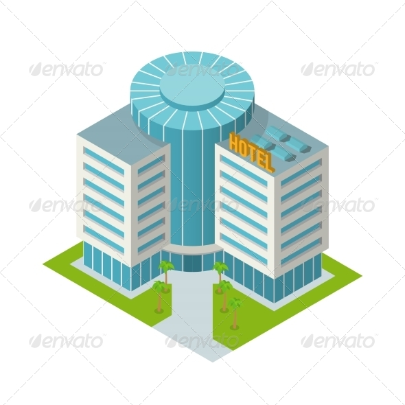 GraphicRiver Hotel Building Isometric 7785673