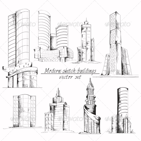 GraphicRiver Modern Sketch Building 7785678