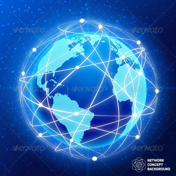 GraphicRiver Network Globe Concept 7785687