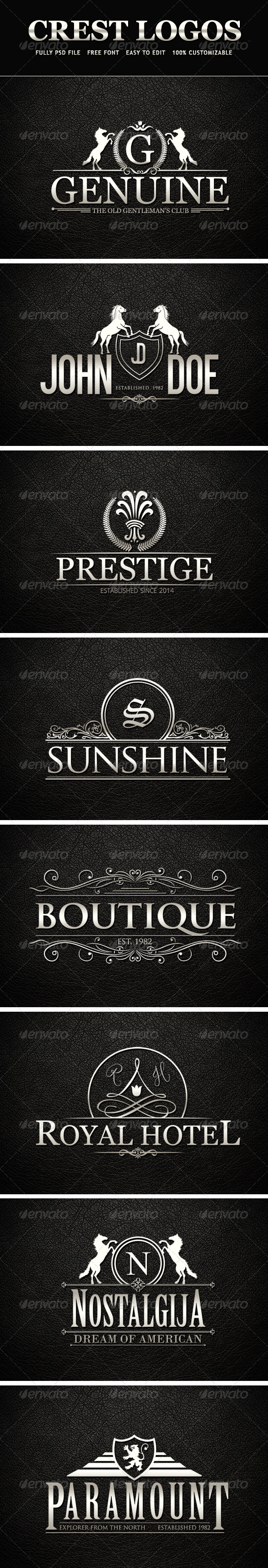 GraphicRiver Crest Logos Vol 01 7786088