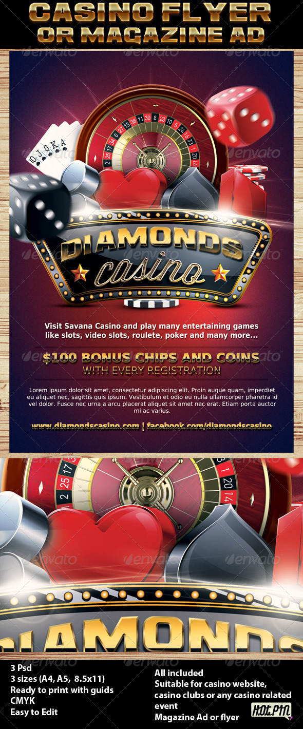 Casino Magazine Ad or Flyer Template 7