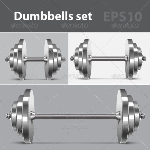 GraphicRiver Dumbbells Set 7786175