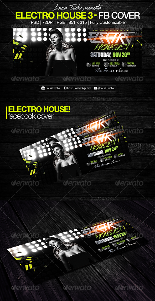 Electro House 3 Facebook Cover