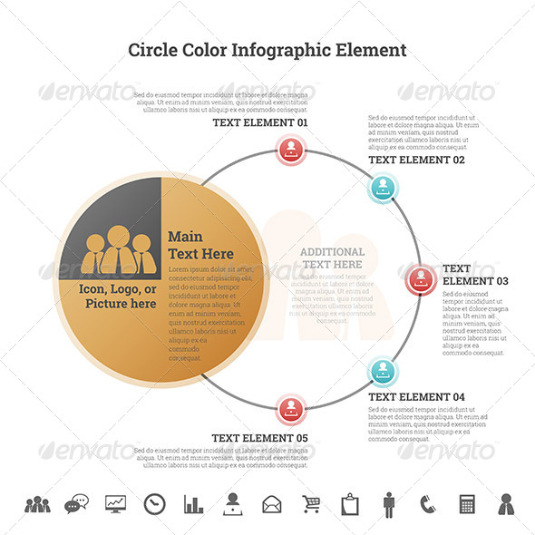 GraphicRiver Circle Color Infographic Element 7787085