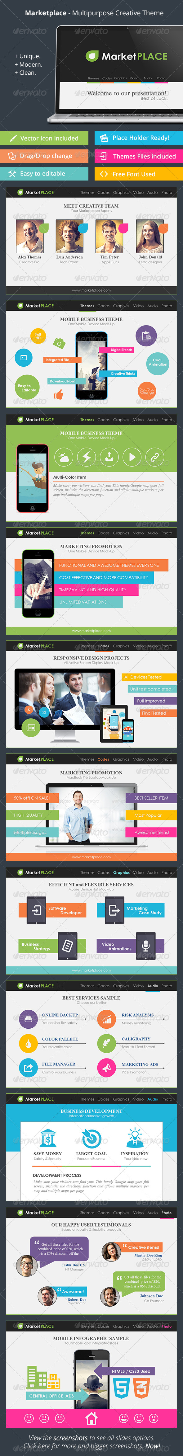 GraphicRiver Marketplace Multipurpose Creative Templates 7787089