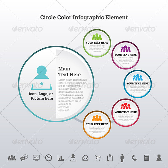 GraphicRiver Circle Color Infographic Element 7787090