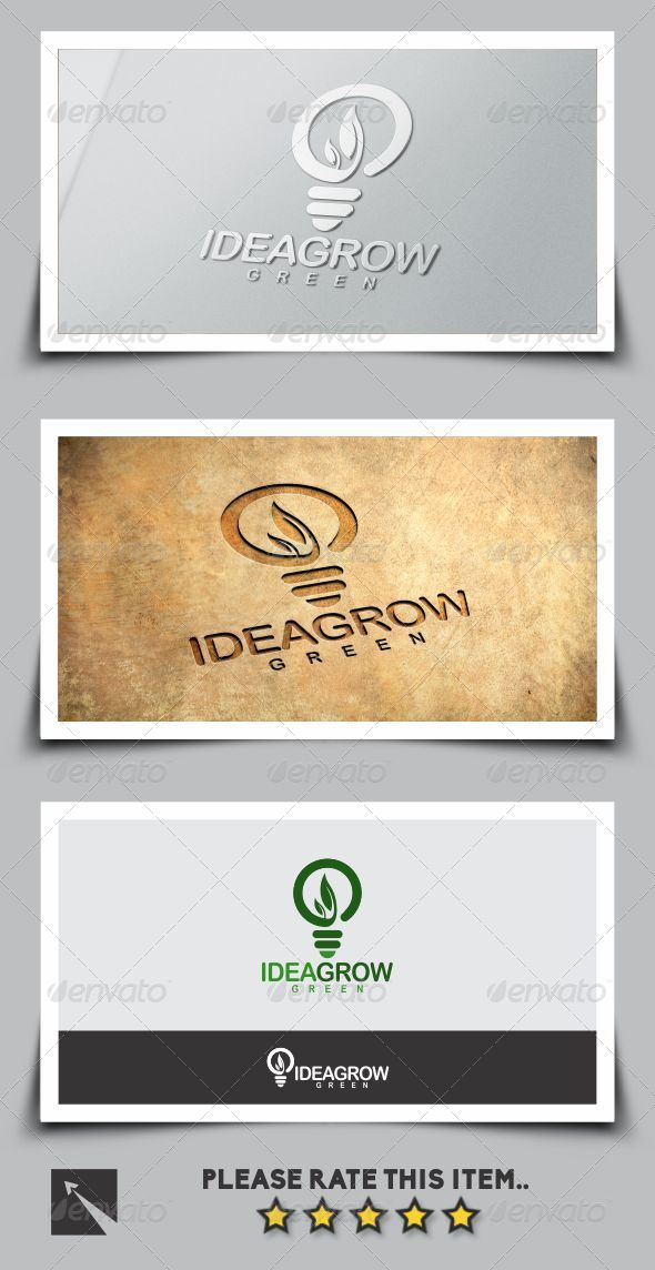 GraphicRiver Idea Grow Green Logo Template 7787311