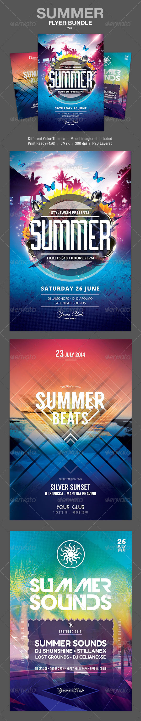 GraphicRiver Summer Flyer Bundle Vol.04 7787415