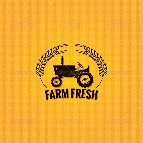 GraphicRiver Farm Tractor Design Background 7788221