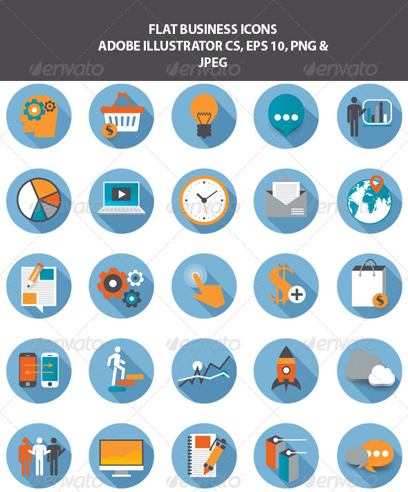 GraphicRiver Flat Business Icons 7788239
