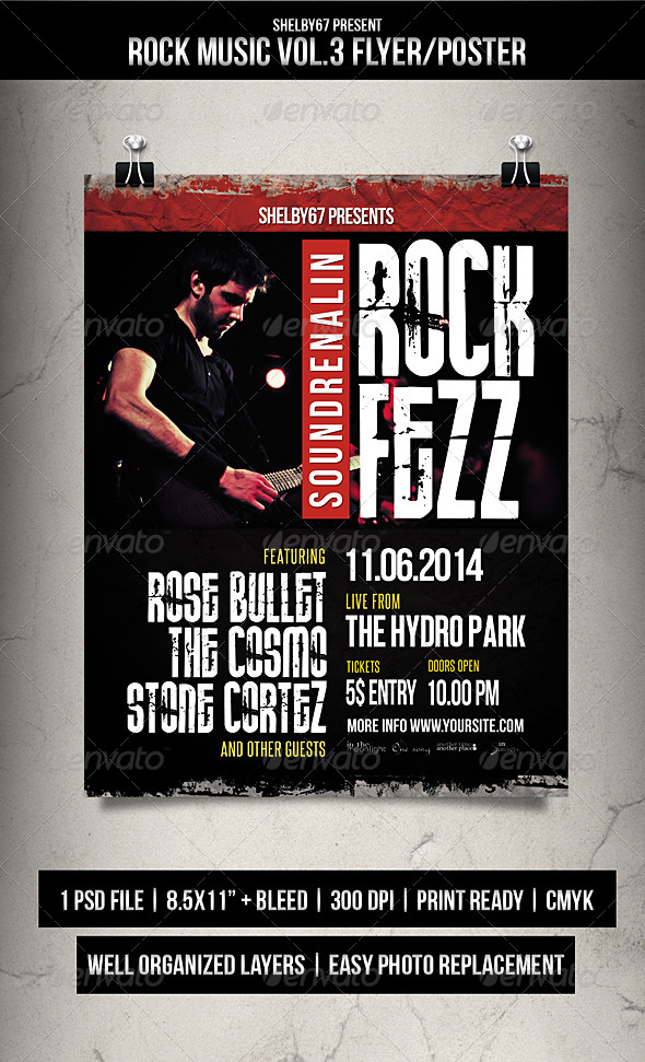GraphicRiver Rock Music Flyer Poster Vol.3 7788446