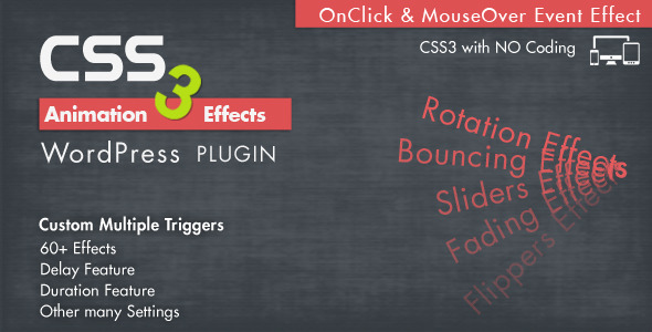 CodeCanyon Animation CSS3 Effects Wordpress Plugin 7788978