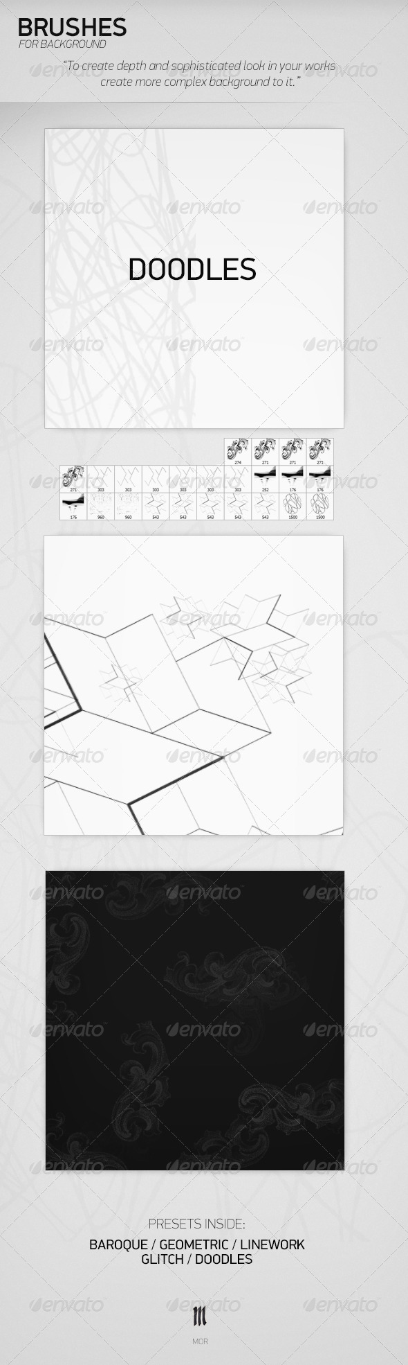 GraphicRiver Brushes for Background 7789187