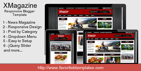 ThemeForest XMagazine Responsive Blogger Template 7789194