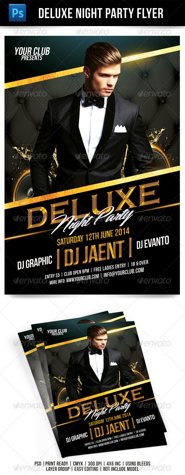 GraphicRiver Deluxe Party Flyer Template 7752764