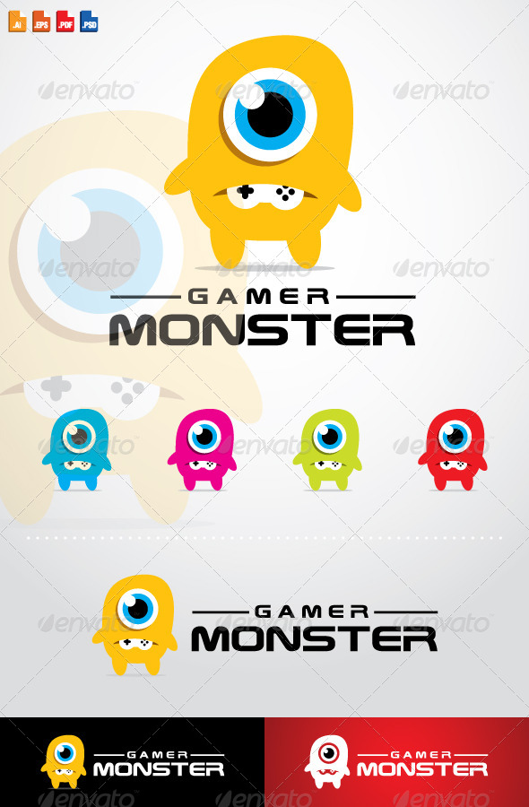 Gamer Monster Logo