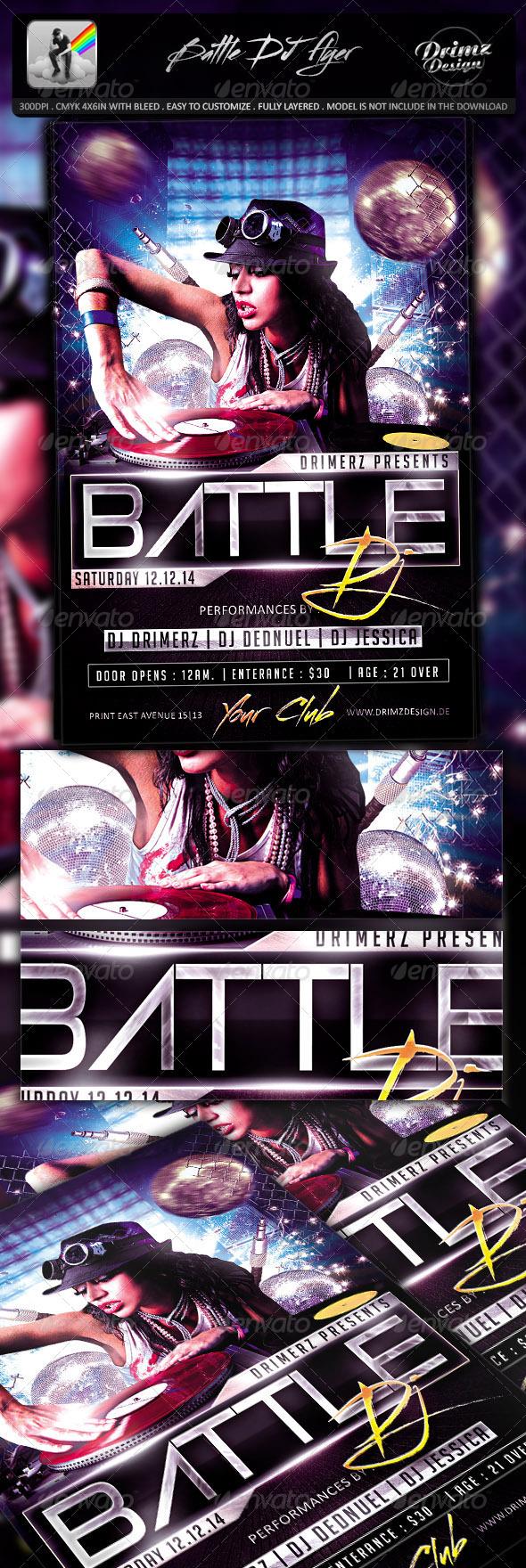 GraphicRiver Battle DJ Flyer 7789290