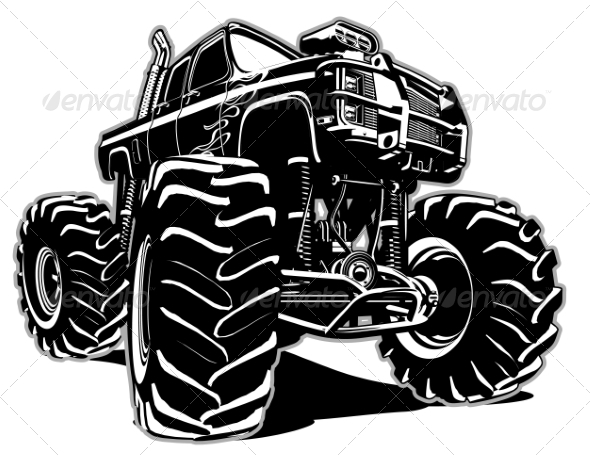 GraphicRiver Cartoon Monster Truck 7789495