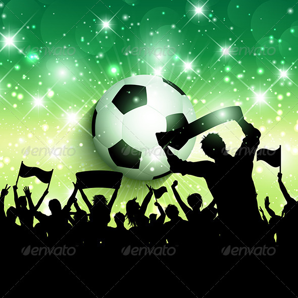GraphicRiver Football Crowd Background 7789518