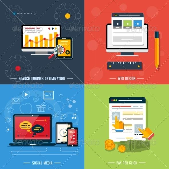 GraphicRiver Web Design Seo Social Media and Pay Per Click 7789527