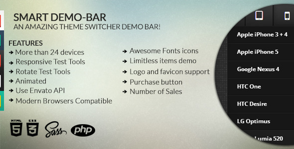 CodeCanyon Smart Demo-bar 7789566