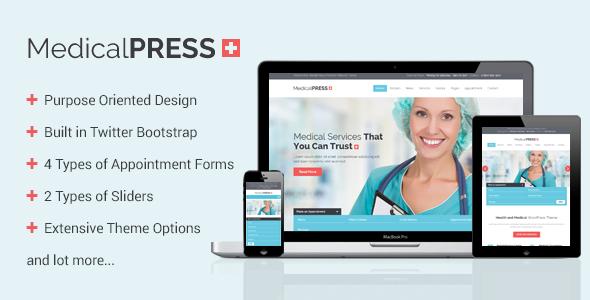 ThemeForest MedicalPress Health and Medical WordPress Theme 7789703