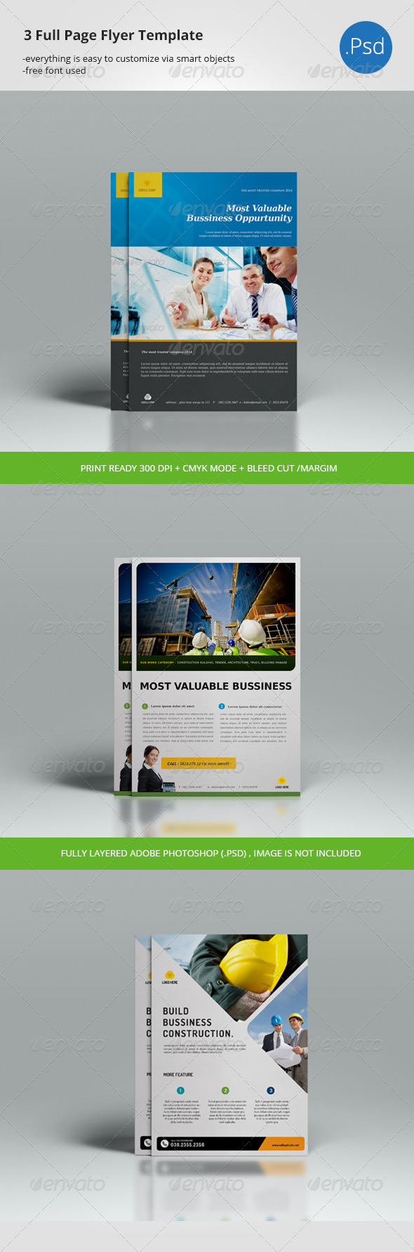 GraphicRiver 3 Page Flyer Template 7770812