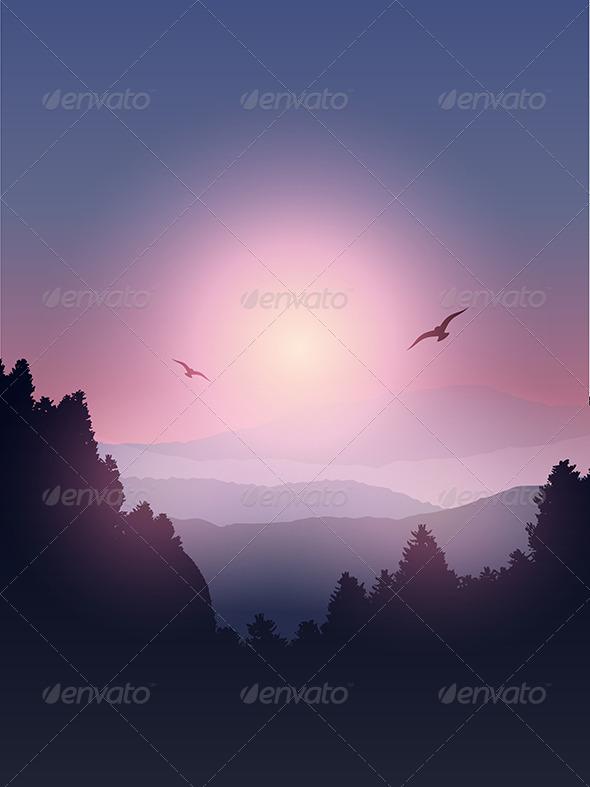 GraphicRiver Mountain Landscape 7789728