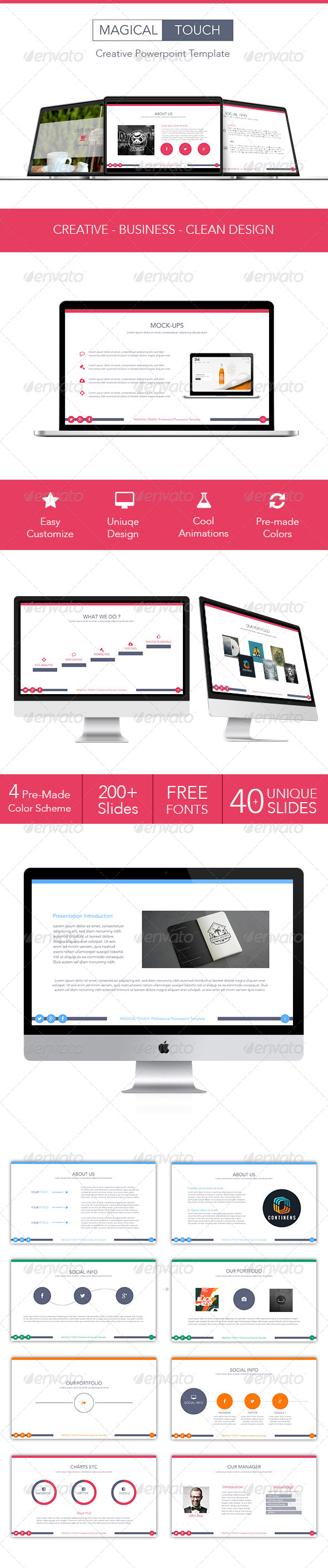 GraphicRiver Magical Touch Powerpoint Template 7789936