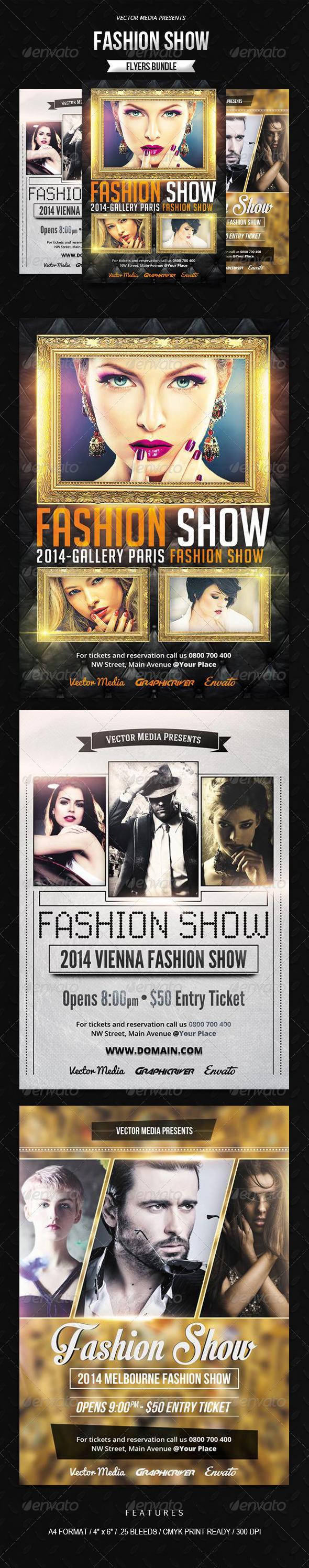 GraphicRiver Fashion Show Flyers Bundle 7789934