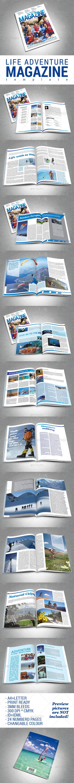 GraphicRiver Adventure Magazine Template 7789959