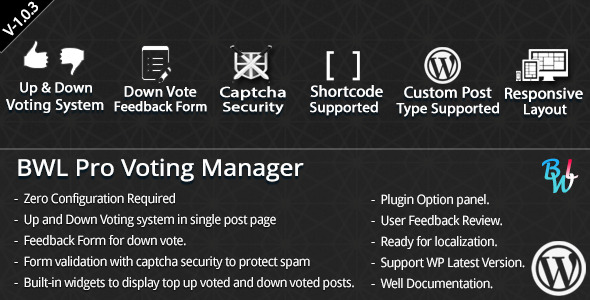 BWL Pro Voting Manager provide you a great option to add a custom voting system in single post. Feedback option gives you a nice way to collect user feedback an