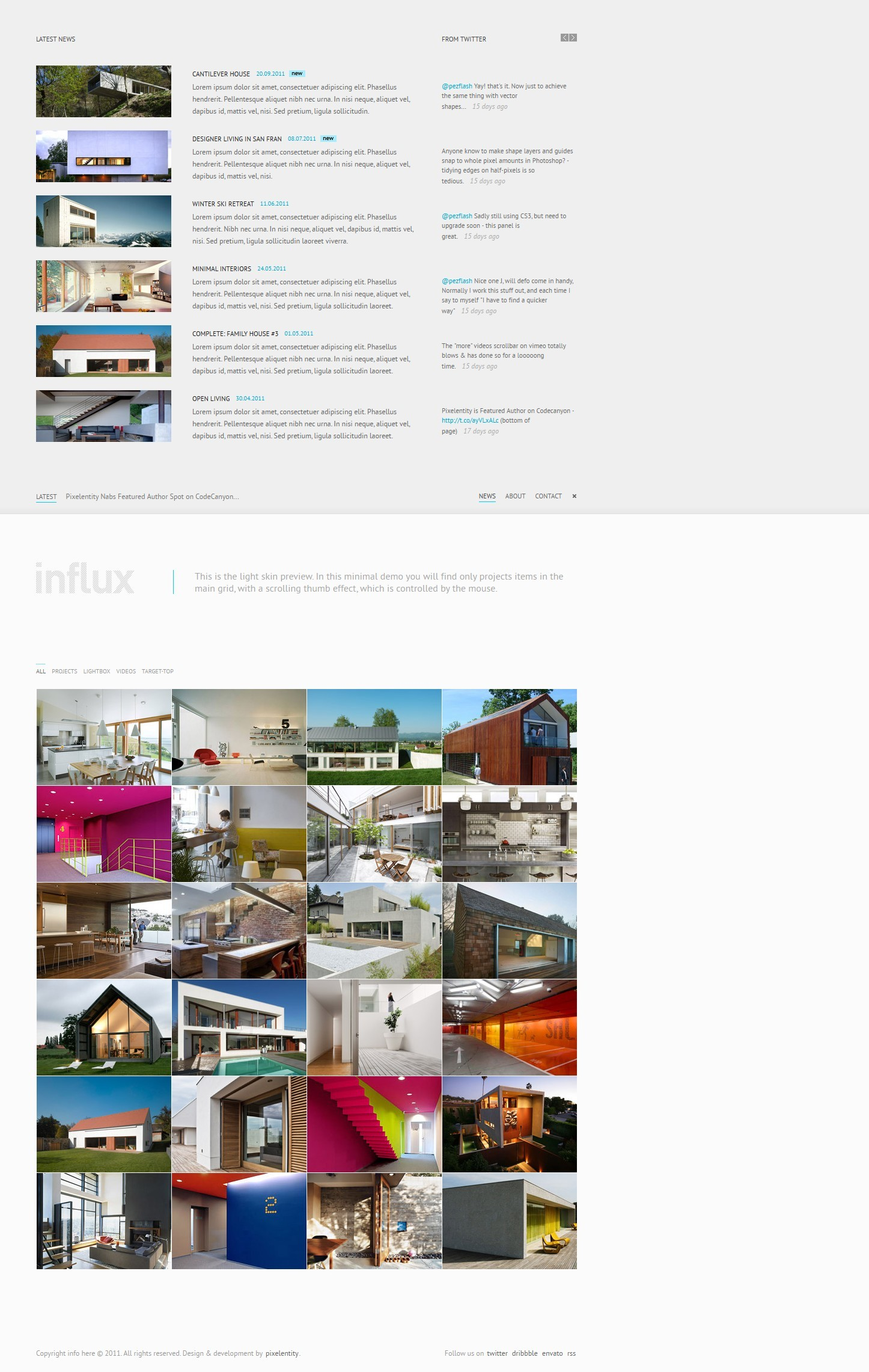 Influx - Ajax / HTML5 Business Portfolio Template