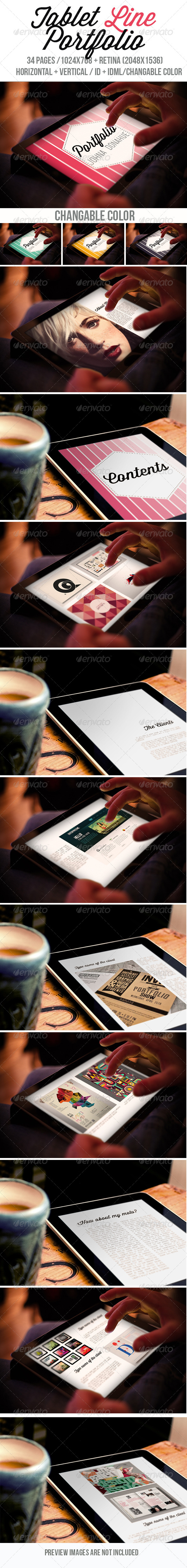 GraphicRiver Tablet Line Portfolio 7790269