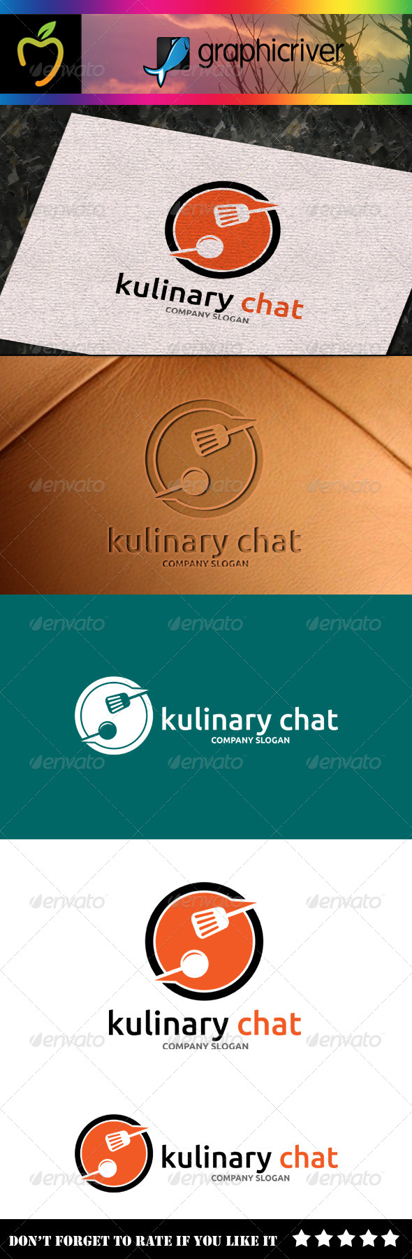 GraphicRiver Kulinary Chat Logo 7790282
