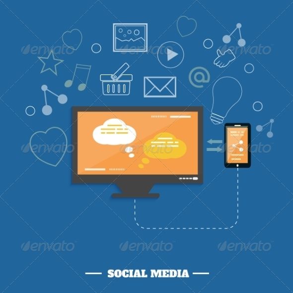 GraphicRiver Social Media Networking Service Concept 7790350