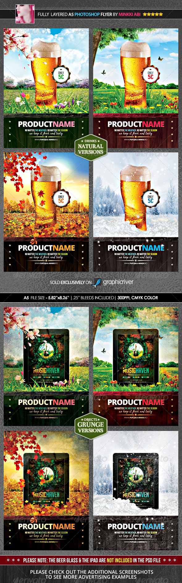 GraphicRiver 4 Seasons Product Promotion Poster Flyer 7790542