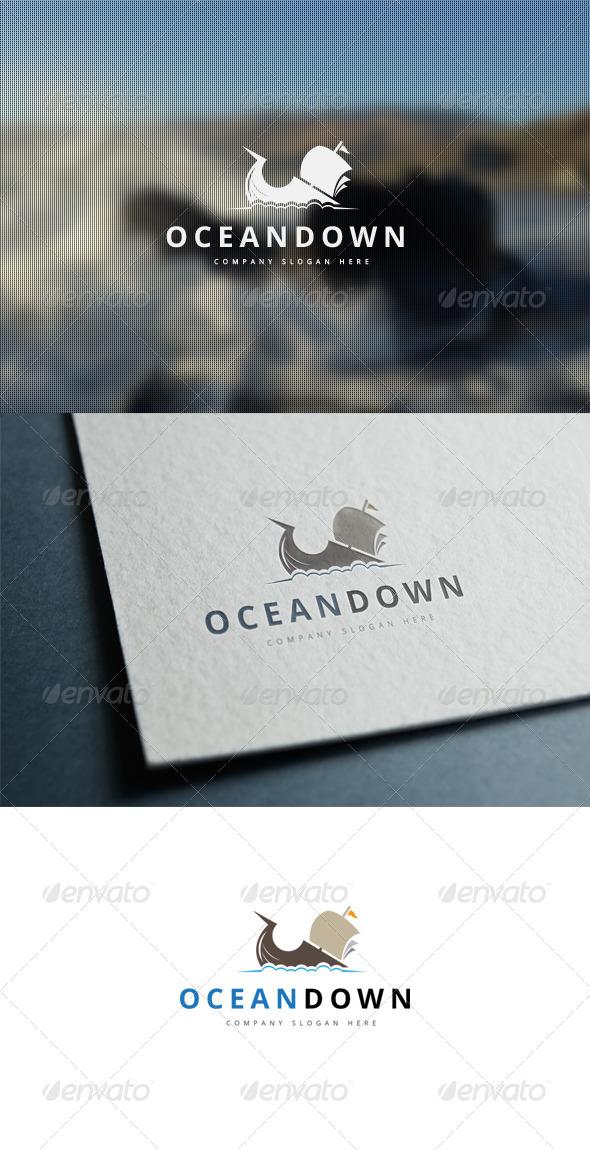 GraphicRiver Ocean Down Logo 7790629