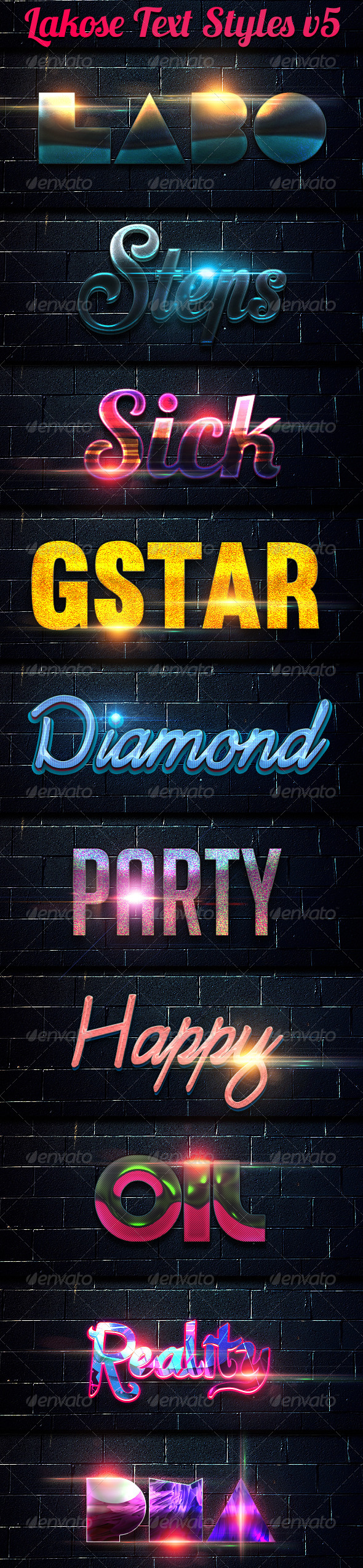 GraphicRiver Lakose Text Styles v5 7764491